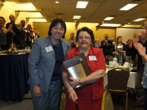 Club President Renee Moe (left) pictured here with Melanie Ramey