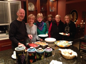 From left: Denny Carey, Carol Koby, Candace Moody, Sally Davis, Jim Davis and Shirley Baum