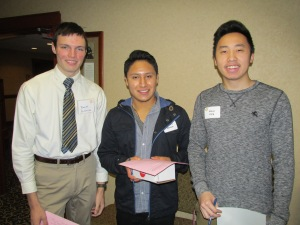 From left: Scholars Brett Stratton, Hloua Vang