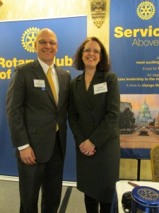 President Tim Stadelman and Jennifer Uphoff Gray
