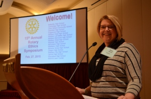 Stacy Nemeth, Chair of 2015 Ethics Symposium Committee