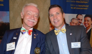 Mark Krawczynski (left) pictured here with our Rotary club member Jackson Fonder