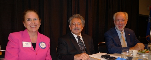 From left: Rotarian Janet Gray, Mayor Paul Soglin and Club President Ellsworth Brown