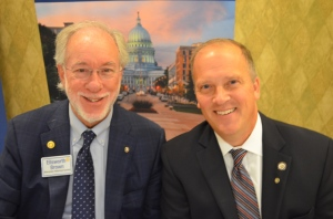 Attorney General Brad Schimel (right) pictured here with Club President Ellsworth Brown