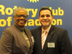 Christine Hodge pictured here with Swarsensky Award Committee Chair Mario Mendoza